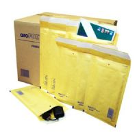 Arofol Classic Gold Bubble Lined Envelopes Bags 100 x 165mm Size 1